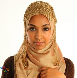 A young woman wearing a Hijab.